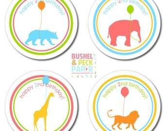 Animal Parade #Party #Stickers, GIft #Tags or #Toppers