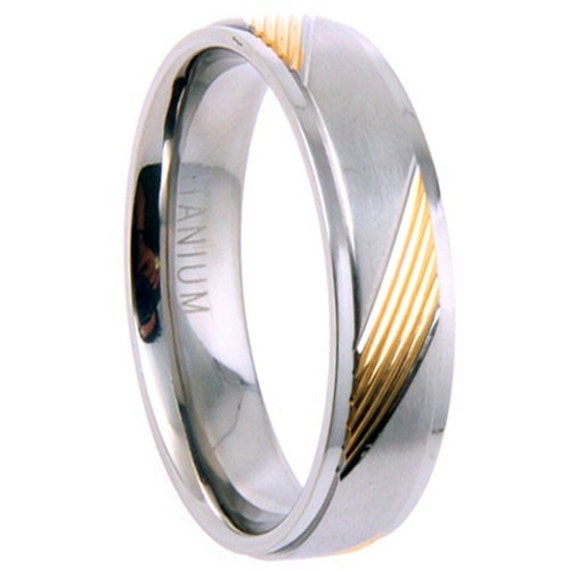 titanium wedding band comfort fit ring 6mm width by usajewelry