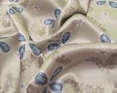Beautiful Green Floral Frangi Silk Scarf - 20 x 20 Square
