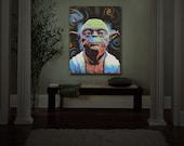 Wall Art Home Decor Yoda Pop Art Illuminated wall decor
