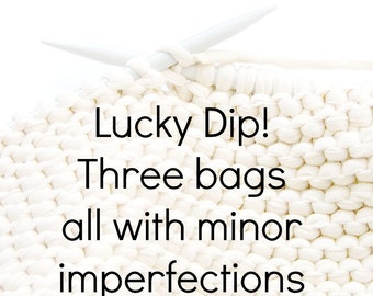 Three fab knitting project bags - slight seconds