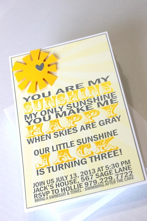 you are my sunshine invitations 10 birthday party baby shower