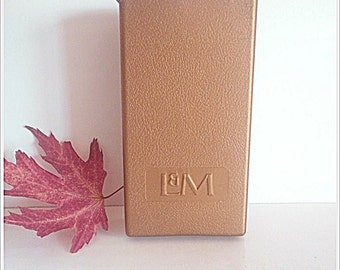 Vintage Plastic Cigarette Case Advertising L & M Co. 1950's Tobacco