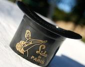 vintage 40's BAKELITE Lido de PARIS CABARET souvenir, Moet and Chandon ashtray
