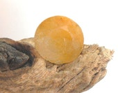 Untreated yellow-orange Sapphire faceted oval natural gemstone, 4.5 cts