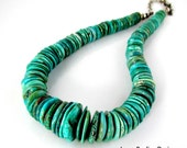 LP 680 Ocean Blue Green Heshi Turquoise Statement Necklace