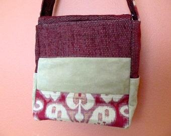 Kelly Ann #1330E, Unique Tri Colored Purse, Shoulder Bag, Shoulder Bags, Purses, Bag, Bags ,Zippered Closure, Handbags, Up Cycled