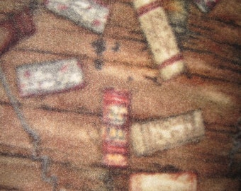 Wine Corks with Brown Couch Throw - Ready to Ship Now