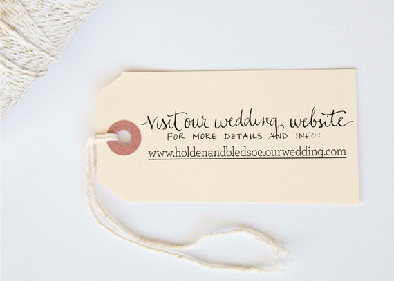 Wedding Website Custom Calligraphy Hand Written Stamp Lowercase Font 3/4 x 3""