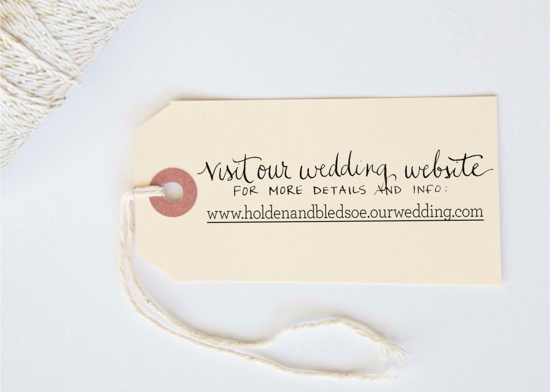 Wedding Website Custom Calligraphy Hand Written Stamp