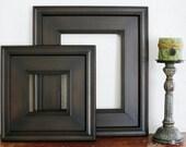 Picture Frame / Black Walnut  / Plein Air Style / Sizes 4x4 to 8x8