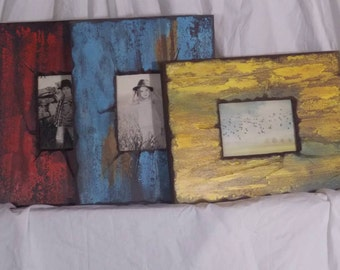 Rustic/Vintage Wood Frames for 5 x 7 Photos .. Any color