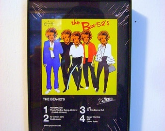 Bea Arthur vs the B-52's 8-Track mock-up framed original Pop Art by Zteven