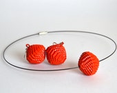 Poppy Red: Set PALLA - earrings and necklace