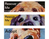Pet Portrait ADOPT or RESCUE Dog Bumper Stickers