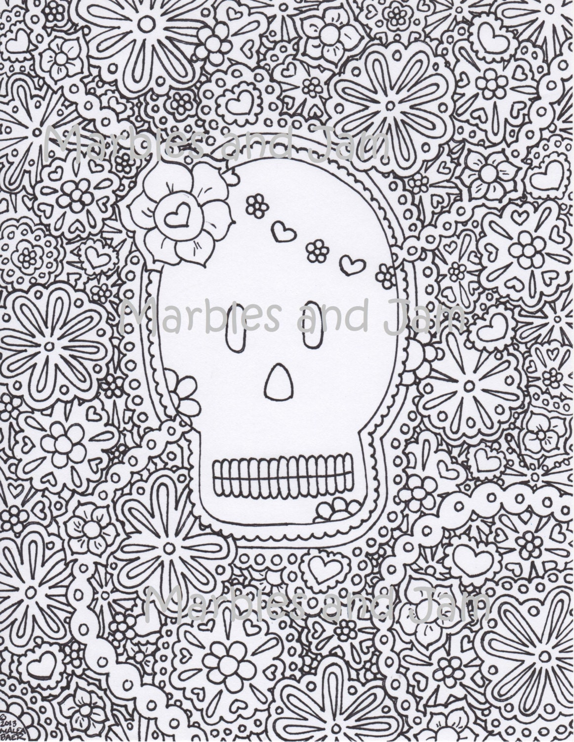 Day of The Dead Coloring Page Pdf Day of The Dead Coloring Page
