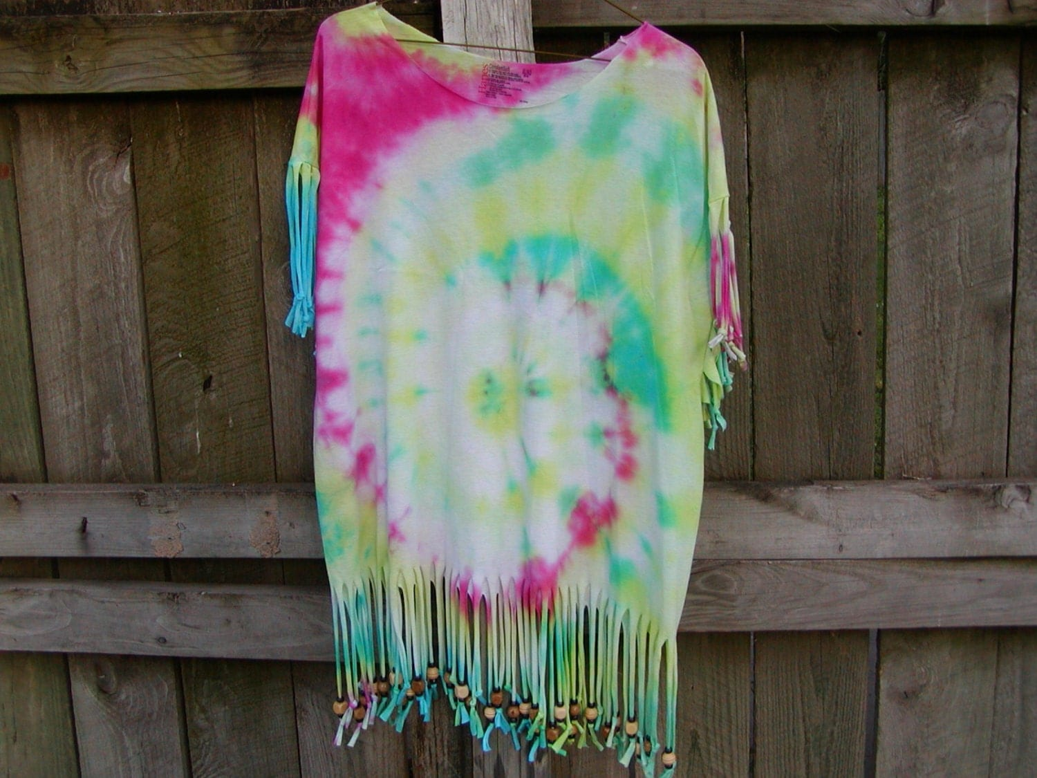 tie dye bathing suit cover up