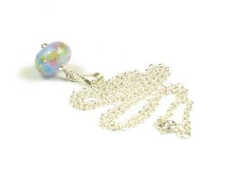 Violette Sterling Silver & Lampwork Glass Necklace