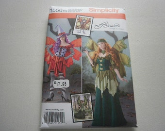Pattern Costume Ladies Fairy or Witch Sizes 6 to 14 Simplicity 1550