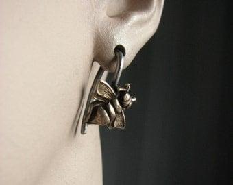 14 gauge insect earrings bee
