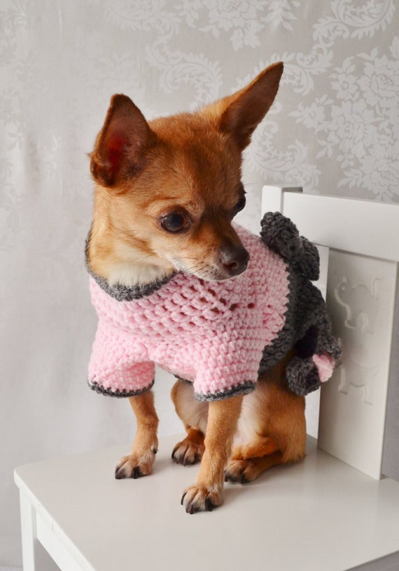 Crochet Xl Dog Sweater : Crochet Dog Sweater, Dog Sweater with Bow, The Oxford Dog Sweater