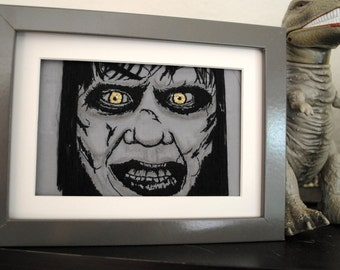 If You Scared Call That Reverend - OOAK Exorcist Hand-Embroidery