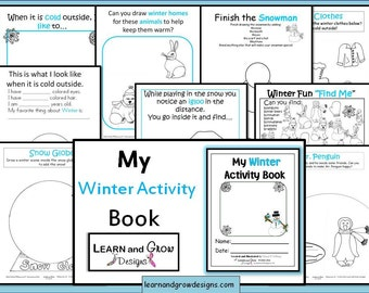 My Winter Activity and Drawing Book for Kids