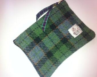 Harris tweed coin purse made in Scotland gift woman girl tartan