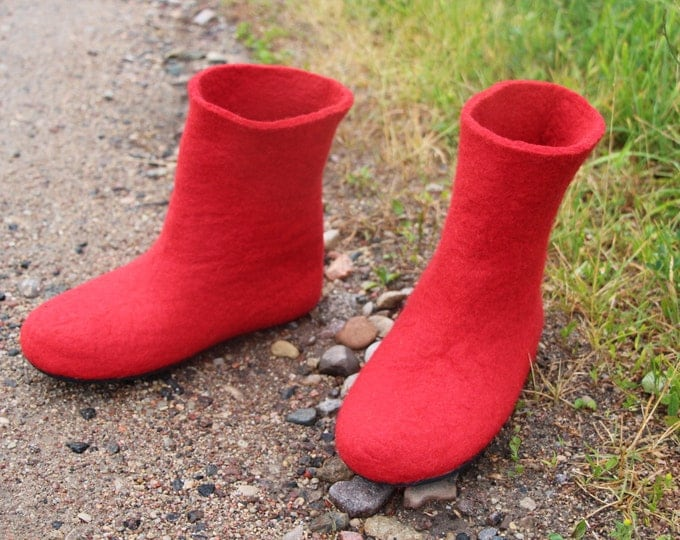 Wool Valenki Boots, Felted Wool Boots, Cozy Boots, Womens Boots, Wool shoes, Sale Winter Boots, Ankle Boots, Boho Boots, Big Sister Gift