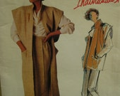 80s Jenny Sharp Long Vest Pattern, Japanese Look, Skirt, Shaped Front Panels, Cowl Blouse, Vogue Individualist No.1412 Size 8 OR 10
