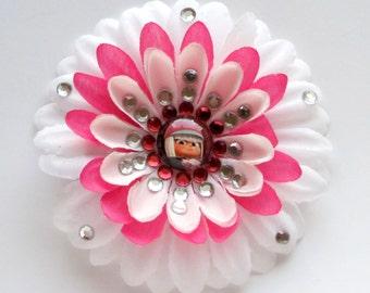 Taffyta (Wreck-it Ralph) Sparkly Rhinestone Flower Barrette