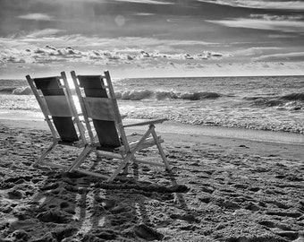 Beach Chairs in Myrtle Beach, South Carolina - Fine Art Photograph 5x7 8x10 11x14 16x20 24x30