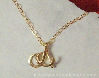 14K Gold Filled Uppercase Initial, Smaller Size, Personalized Jewelry