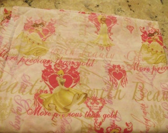 Disney Princess Sheet/ Disney Twin Sheet/ Disney Vintage Sheet/Disney Princess Yardage