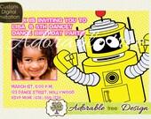 Yo Gabba Gabba Plex Digital Photo Birthday Invitation - Design No. 9