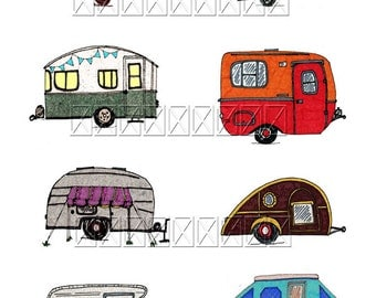 Happy Camper Happy Camping Digital collage sheet Download