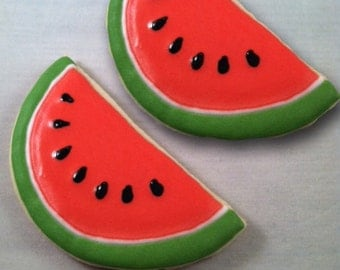 watermelon sugar cookies, summer favor, 1 dozen