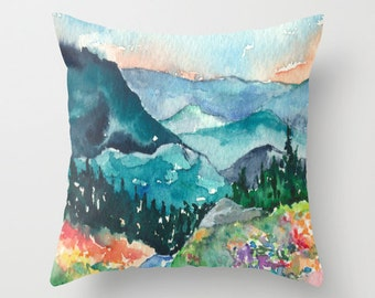 Decorative Pillow Cover - Valley of Dreams Painting - Throw Pillow Cushion - Fine Art Home Decor
