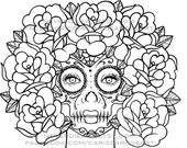 Digital Download Print Your Own Coloring Book Outline Page - Quietude by Carissa Rose