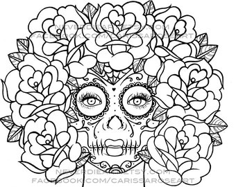 digital download print your own coloring book outline page quietude by carissa rose - Print Your Own Coloring Book