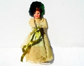 Vintage Mid Century Doll, Colonial Style Doll, Pretty Vintage Doll