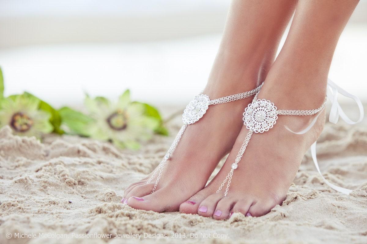 barefoot wedding shoes - photo #3