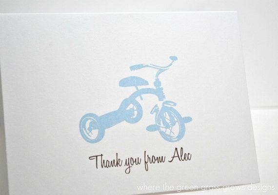 Tricycle Thank you Cards