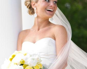 Long Bridal Earrings Rhinestone Chandelier style Swarovski Pearl and sparkling pave teardrop dangle perfect wedding earrings bridesmaids