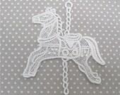 Venice Lace Applique Carousel Horse Venise Motif Kids Clothes Crazy Quilting