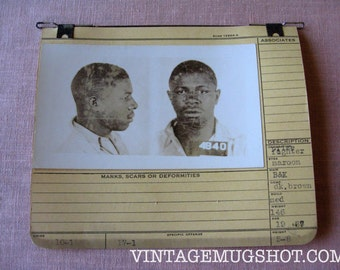 1937 Allegheney County Pa Police Criminal  MUG SHOT 19 Year old Prize Fighter With Maroon Eyes