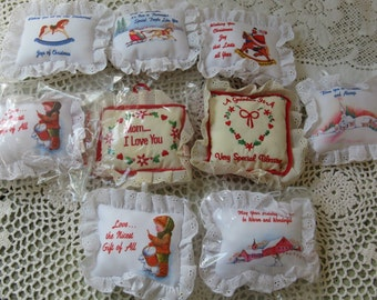 russ ornaments christmas ornies stuffed ornaments set of 9 different sayings new old stock