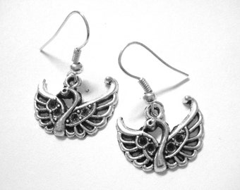 Swan Earrings - Swan Jewelry - Swan Princess Costume Accessory - Sterling Silver Bird Earrings 200
