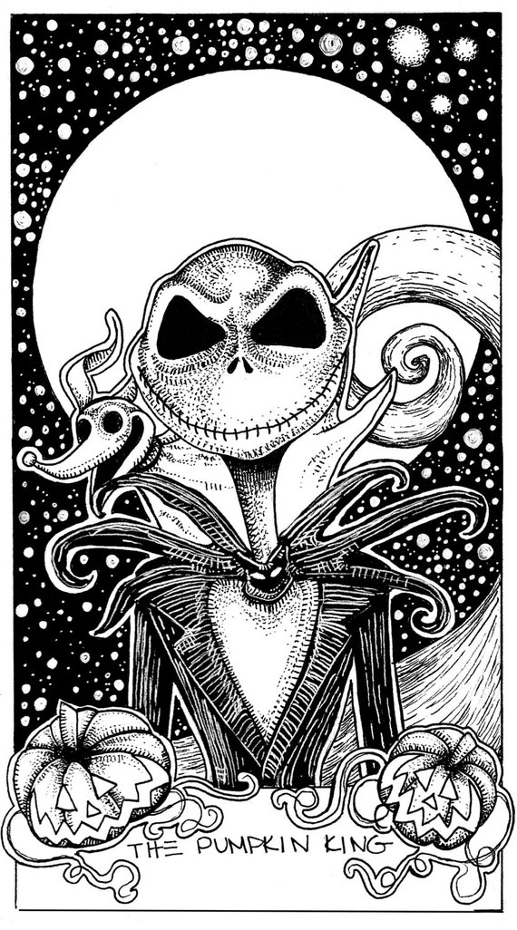 jack skellington coloring pages | Items similar to Jack Skellington Nightmare Before ...
