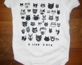 CATS White Baby Bodysuit
